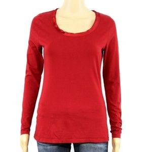 Ann Taylor Women's Pullover Shirt Red